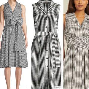 DONNA KAREN Sleeveless A-Line Dress